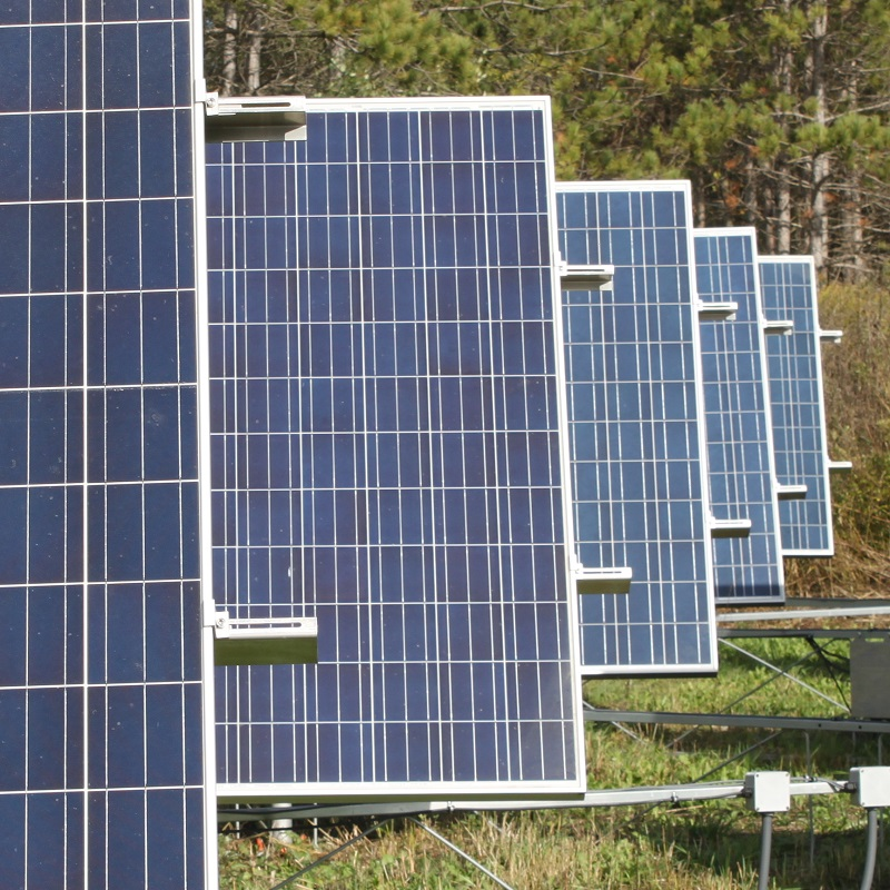 solar test site at Kortright Centre